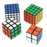 Original Shengshou 2 * 2 * 2 Magic Cube +  3 * 3 * 3 Speed Twist Cube + 4 * 4 * 4 Square Puzzle + 5 * 5 * 5 ABS Ultra-smooth Cubo Bundle Pack Set Matte Sticker Black Ground