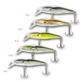 5pcs Group Fish Lures Minnow Lure Floating SwimBait Hard Plastic 3d Fish Eye