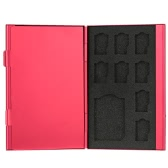 Aluminium Alloy Memory Card Storage Carrying Protector Box Case Cover Holder Wallet for SD TF Card Portable