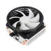 PCCOOLER 2 Heatpipes Radiator Quiet 3pin Mini CPU Cooler Heatsink Fan Cooling with 100mm Fan for Desktop Computer