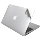 "Lention 5 in 1 Ultra Thin Full Body Skin Silver Cover Guard Sticker Set Suit for MacBook Air/Pro/Retina Display 13-inch 13.3"" with Screen Protector Palmrest with Trackpad Upper and Bottom Cover Protective Skin"