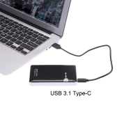 "2.5"" SATA SSD HDD Hard Disk Drive to USB 3.1 Type-C 10Gbps Converter Adapter External Aluminum Enclosure Case Caddy + USB Cable"