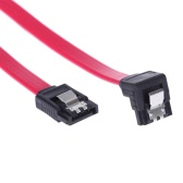 SATA 2.0 High Speed Straight/Right Angle Connector Data Cable Cord with Locking Latch Plug for HDD Hard Drive SSD