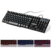 Russian English Gaming Keyboard USB 3 Backlight Modes Floating Keycaps LED Backlit Teclado Gamer 19 Keys Conflict-free
