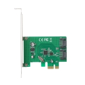 PCI-E to Internal 2-Port SATA III 3.0 PCI Express Card Adapter Superspeed 6 Gbps with ASM1061 Chipset