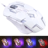 USB Wired 5500 DPI Adjustable Ergonomic Professional Gaming Mouse with Backlit 7 Buttons