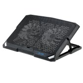 BUJIAN Portable USB Laptop Cooling Pad Cooler Base Chill Mat Radiator up to 1200 RPM with 2 LED Fans for Notebook No More Than 15.6""