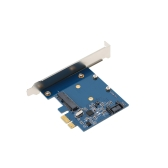Mini PCI-E to MSATA SSD & SATA3.0 Combo to PCI-E PCI Express Card Controller Adapter Superspeed 6 Gbps with ASM1061 Chipset