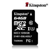 Kingston Class 10 64GB MicroSDHC TF Flash Memory Card 48MB/s Maximal Speed