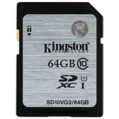 Genuine Original Kingston Class 10 64GB SDHC Memory Card 45M/s for Cellphone Camera HD Video