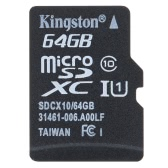 Kingston Class 10 8GB 16GB 32GB 64GB MicroSD TF Flash Memory Card 48MB/s Maximal Speed with Card Adapter