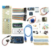 MEGA2560 BreadBoard Advance Kit with Sensors / Servo Motor / LCD Display / Tutorial for Arduino