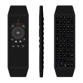 Mini Portable Wireless 6-axis Gyroscope 2.4GHz Fly Air Mouse Keyboard with Full Qwerty Keyboard Support Infrared Learning Voice Input Function for Android Smart TV Box Windows Mac Linux iOS PC