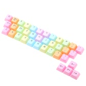 Motospeed C100 PC Desktop Mechanical Keyboard Cherry MX Switch Rainbow PBT Key Cap 37 Key with Keycap Puller