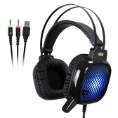 TAIDUN High Quality Professional USB & 3.5mm Stereo Over Ear Esport Gaming Headset Headphone with Colorful LED Light Noise Reduction Microphone for Desktop PC Laptop PS3 PS4 Xbox One Gamer