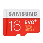Samsung Memory 16GB EVO Plus MicroSDHC 80MB/s UHS-I (U1) Class 10 TF Flash Memory Card MB-MC16D/CN High Speed for Phone Tablet Cemara