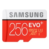 Samsung Memory 256GB EVO Plus MicroSDXC 95MB/s UHS-I (U3) Class 10 TF Flash Memory Card MB-MC256D/CN High Speed for Phone Tablet Cemara