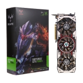 Colorful iGame GTX1080Ti Vulcan AD Video Graphics Card 1594/1683MHz 11GB GDDR5X 352bit PCI Express 3.0 DirectX 12 SLI VR Ready with HDMI DP DVI Port 3 Cooling Fans