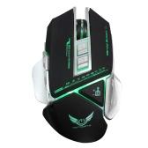 HXSJ X400 USB Wired Gaming Mouse Macro Definition Programming Mechanical Game Mice 3200DPI Adjustable 7 Programmable Buttons Breathing LED Lighting Effect