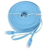 High Quality 25m/82.02ft Blue High Speed Cat6 Ethernet Flat Cable RJ45 Computer LAN Internet Network Cord