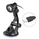 Desk Lamp Eye-caring Table Lamps Small Reading Lamp 360° Rotation Foldable w/ Suction Cup Base Black