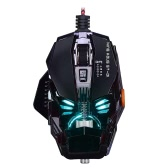 Mechanic Laser Gaming Mouse 8 Buttons 7 Color Breathing Light Macro Programming Adjustable 4000DPI USB PC Game Gamer Detachable Mice