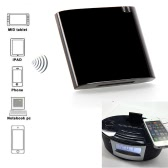 Wireless Stereo Bluetooth Music Receiver/Adapter for iPhone iPad iPod Samsung 30-pin Dock Speaker Boombox Black