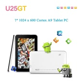 "Cube U25GT 7"" Tablet PC Android 4.1 RK2928 Cortex A9 1024x600 Capacitive Touch Screen 0.3MP Camera 512MB DDR3 + 8GB WiFi HD"