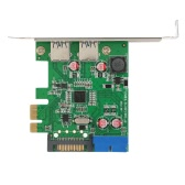 SuperSpeed 2-Port USB 3.0 PCI-E PCI Express 19-pin USB3.0 15-pin SATA Connector Low Profile