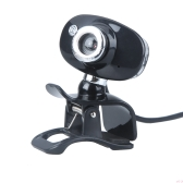 USB 2.0 50.0M HD Webcam Camera Web Cam with MIC for PC Laptop Computer Silver & Black