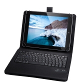 "Universal Detachable Wireless Bluetooth Keyboard Leather Case Cover for 9"" 10"" Tablet PC"
