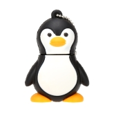 Caetoon Cute Penguin Bird Animal USB 2.0 Key Ring Memory External Storage Stick Flash Drive U Disk