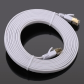 High-quality 15.0m High-speed Cat7 SSTP RJ45 Network LAN Cable Internet Flat Network Cable