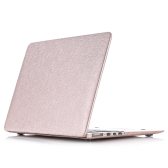 "Hard Case Silk Pattern Leather Cover Snap-on Shell Protective Skin Ultra Slim Light Weight for Apple Macbook Pro 15-inch 15.4"" with Retina Display"
