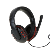 Professional Gaming Game Hifi Stereo Headphone Headset Earphone with Microphone 2.5mm Plug & USB for PS3 PS4 XBOX 360 PC Computer Laptop Notebook