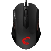 COMANRO 2400DPI Adjustable Professional USB Wired 6D Optical Gaming Mouse 4 Switchable Backlights