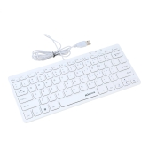 KKmoon 78 Keys Ultra Slim Thin USB Wired Keyboard for Windows PC Computer Laptop Tablet
