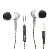 FOSON 3.5mm In-ear Noise Isolating Stereo Bass Earphones Metal Headphones Earbuds with Microphone for iPhone Samsung Smartphone MP3/4 Notebook Laptop