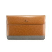 """Lention Genuine Leather Flap Sleeve Bag Case Pouch for MacBook Air/Pro/Pro with Retina 13.3"""" Ultrabook Laptop Notebook"""