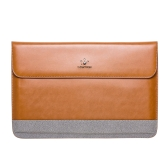 "Lention Genuine Leather Flap Sleeve Bag Case Pouch for MacBook Pro/Pro with Retina 15.4"" Ultrabook Laptop Notebook"