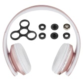 Andoer Bluetooth Headphone Wireless Stereo Bluetooth 4.1 Headset 3.5mm Wired Earphone MP3 Player TF Card FM Radio Hands-free Rose Gold + DIY Tri Fidget Spinner