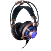 Professional Esport Gaming Stereo Music Headset Headphone Over-ear USB 3.5mm Wired with Telescopic Microphone Mic LED Light for Mac Laptop PC Computer