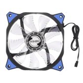 HANJUNG 120mm Sleeve Bearing 12V 0.16A 4 LED Light Silent PC Case Fan 3-Pin Desktop Computer CPU Cooling Cooler Radiator