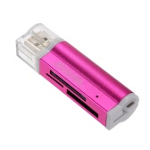 USB 2.0 Multi-functional All in 1 Multi Memory Card Reader High Speed for TF SD M2 MS Blue