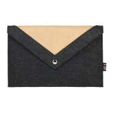 BUBM Laptop Bag for 15.4 Inches Macbook Pro Notebook Carrying Case Wool Felt Computer Cover Black