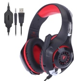 Beexcellent GM-1 Professional Esport Gaming Headset Headphone Earphone Over Ear 3.5mm & USB with Microphone LED Light Noise Reduction for PS4/Xbox One/Mac/PC/iOS/Android
