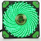 120mm Heatsink DC 12V PC Fans 33Lights 4 Color LED Silent Computer Chassis Fan Case Cooler Cooling Quiet with Anti-Vibration Rubber