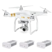 DJI Phantom 3 SE Wifi FPV 4K Camera Drone Vision Positionnement Quadcopter avec 2 extra 4500mAh 15.2V 4S Intelligent Flight Battery (2 Batterie Extra Non Original)
