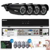 KKmoon® 4CH Channel Full AHD 1080N/720P Security System with 1TB HDD
