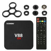 V88 Smart Android 6.0TV Box RK3229 Quad Core UHD 4K 1G / 8G Mini PC WiFi H.265 US Plug + DIY Tri Fidget Spinner